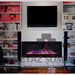 TV üniteli plazma şömine modeli T9