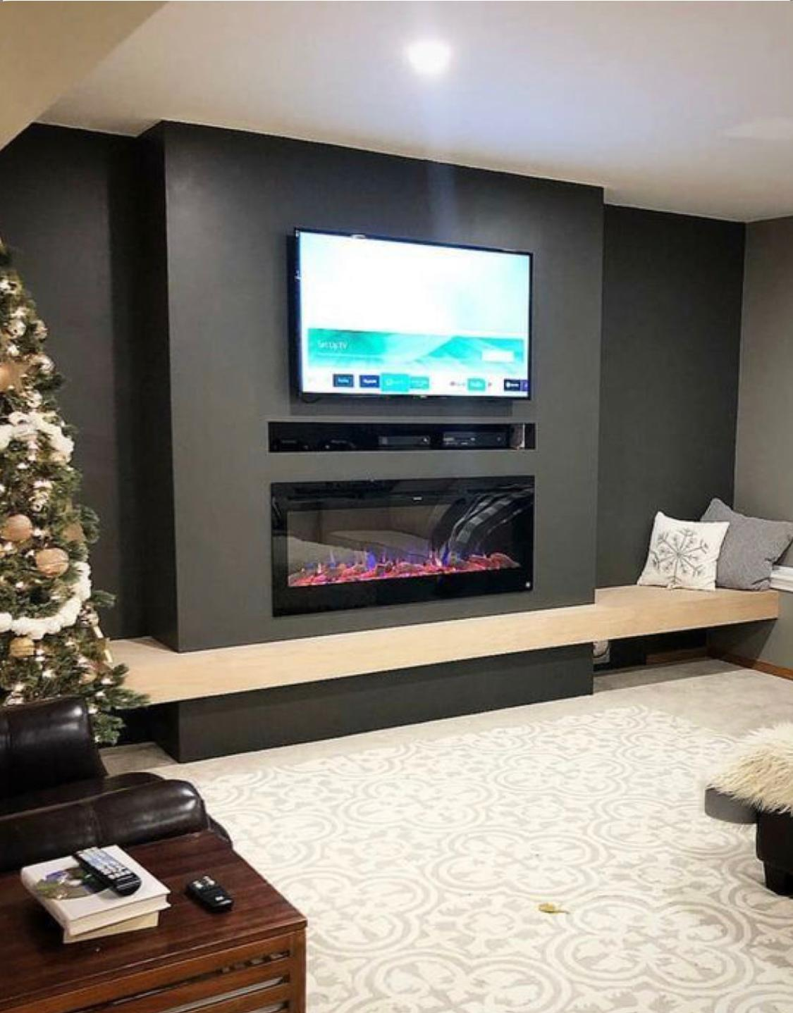 Tv üniteli elektirikli şömine modeli bş 423