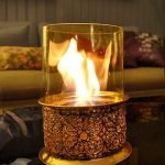 Masaüstü şömine modeli ottoman